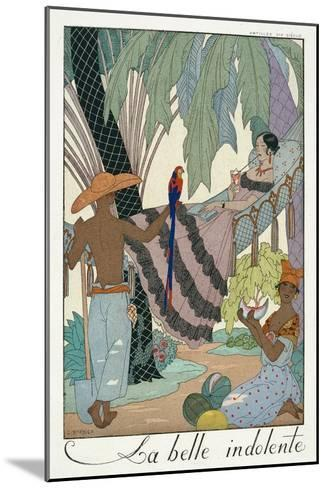 The Idle Beauty-Georges Barbier-Mounted Giclee Print