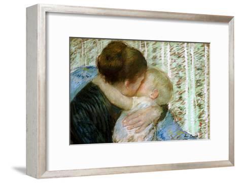 A Goodnight Hug-Mary Cassatt-Framed Art Print