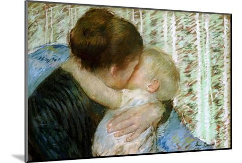 A Goodnight Hug-Mary Cassatt-Mounted Giclee Print