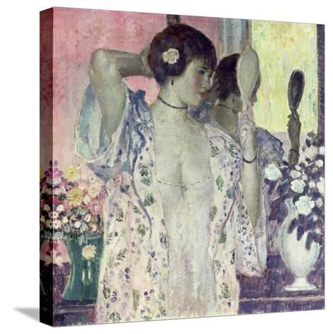 The Hand Mirror-Frederick Carl Frieseke-Stretched Canvas Print