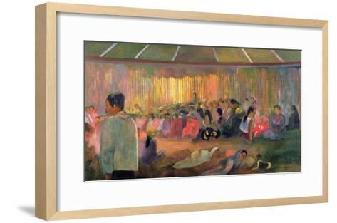Te Fare Hymenee-Paul Gauguin-Framed Art Print