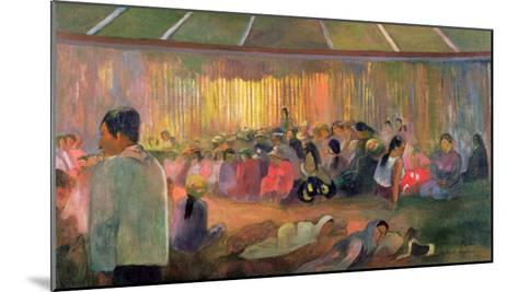 Te Fare Hymenee-Paul Gauguin-Mounted Giclee Print