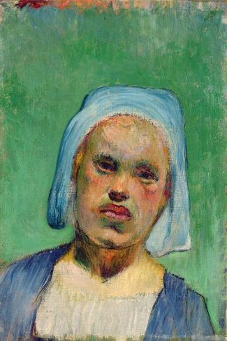 Head of a Breton-Paul Gauguin-Stretched Canvas Print