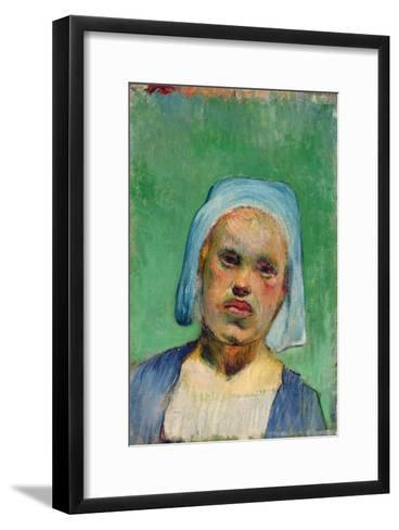 Head of a Breton-Paul Gauguin-Framed Art Print