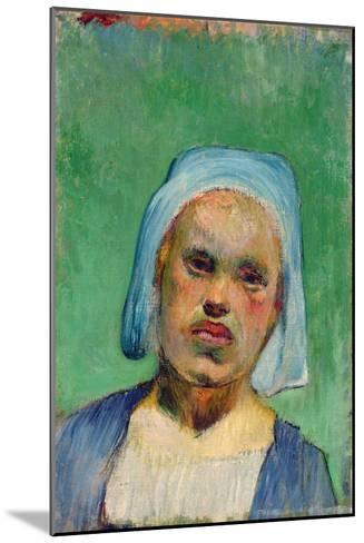 Head of a Breton-Paul Gauguin-Mounted Giclee Print