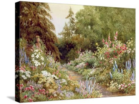 Herbaceous Border-Evelyn L. Engleheart-Stretched Canvas Print