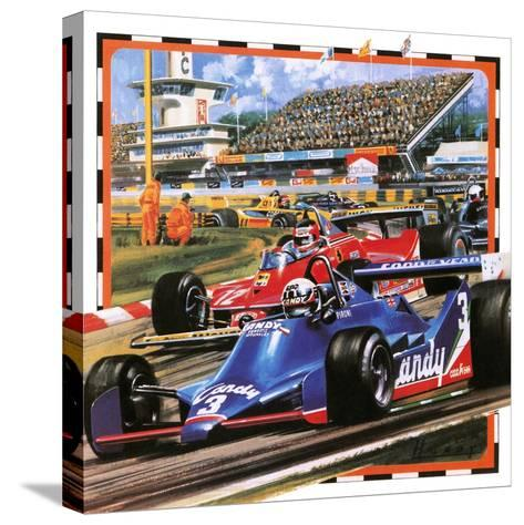 Grand Prix Racing-Wilf Hardy-Stretched Canvas Print