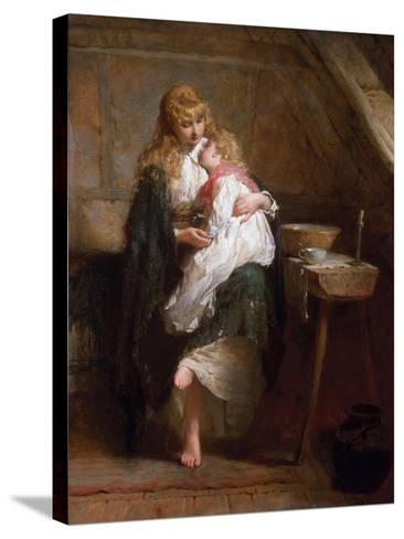 The Orphans, 1884-George Elgar Hicks-Stretched Canvas Print