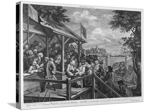 The Polling, 1758-William Hogarth-Stretched Canvas Print