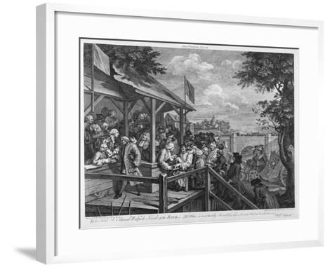 The Polling, 1758-William Hogarth-Framed Art Print