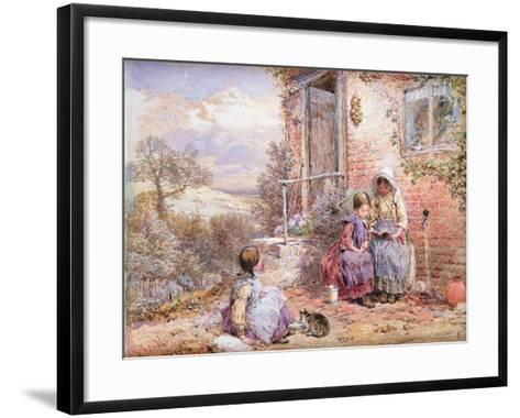 The Story Book-Myles Birket Foster-Framed Art Print