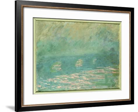 Waterloo Bridge-Claude Monet-Framed Art Print