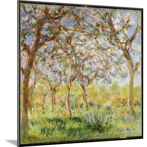 Spring at Giverny-Claude Monet-Mounted Giclee Print