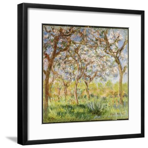 Spring at Giverny-Claude Monet-Framed Art Print