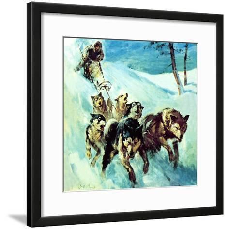 The Canadian Husky-McConnell-Framed Art Print