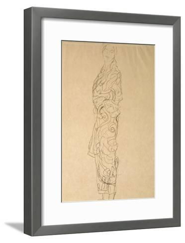 Woman in a Kimono-Gustav Klimt-Framed Art Print