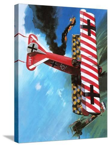Fokker D Vii-Wilf Hardy-Stretched Canvas Print