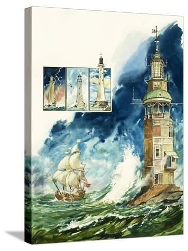 Lighthouses-Leo Davy-Stretched Canvas Print