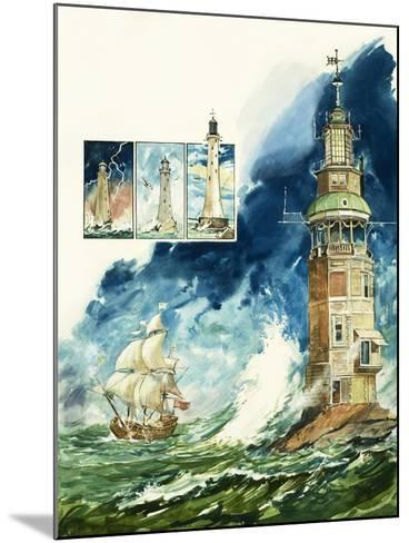 Lighthouses-Leo Davy-Mounted Giclee Print