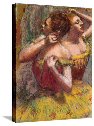 Two Dancers-Edgar Degas-Stretched Canvas Print