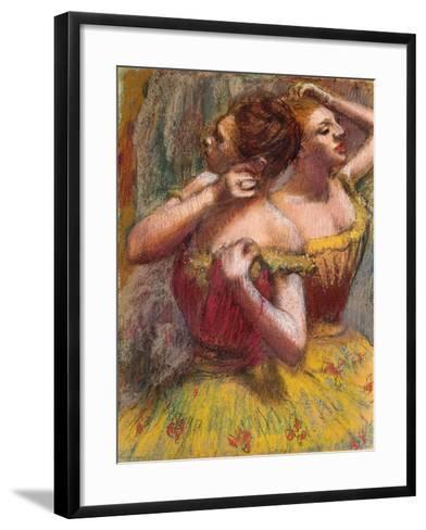 Two Dancers-Edgar Degas-Framed Art Print