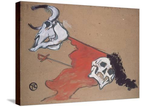 Bullfighting-Henri de Toulouse-Lautrec-Stretched Canvas Print