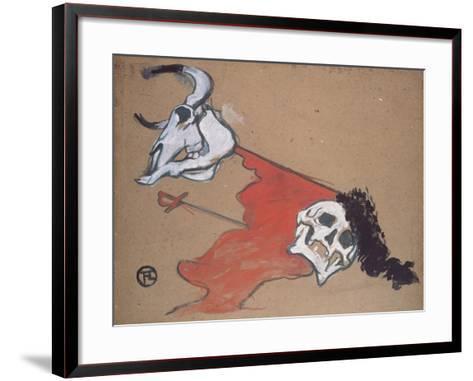 Bullfighting-Henri de Toulouse-Lautrec-Framed Art Print