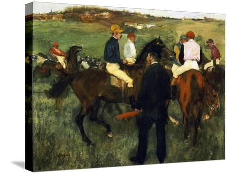 Racehorses-Edgar Degas-Stretched Canvas Print