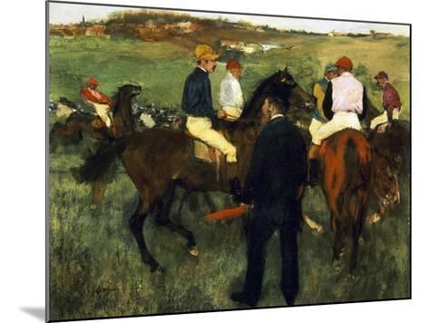 Racehorses-Edgar Degas-Mounted Giclee Print
