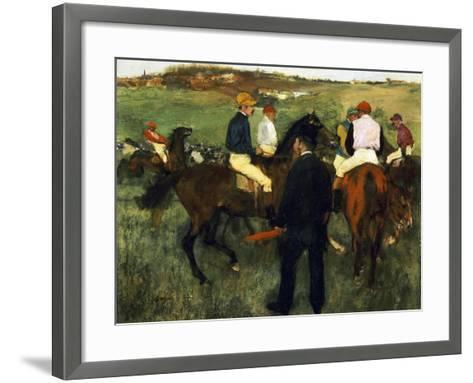 Racehorses-Edgar Degas-Framed Art Print