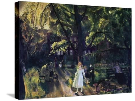 Gramercy Park-George Wesley Bellows-Stretched Canvas Print