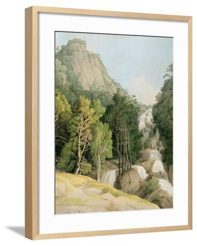 Lodore Falls-Francis Towne-Framed Art Print