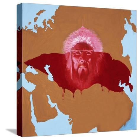 Mongol-English School-Stretched Canvas Print