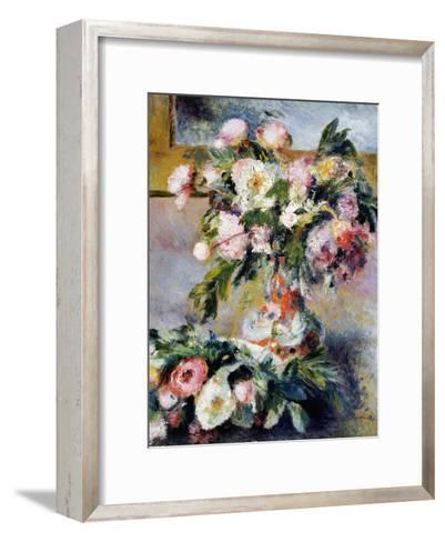 Peonies, 1878-Pierre-Auguste Renoir-Framed Art Print