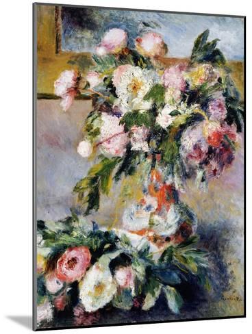Peonies, 1878-Pierre-Auguste Renoir-Mounted Giclee Print