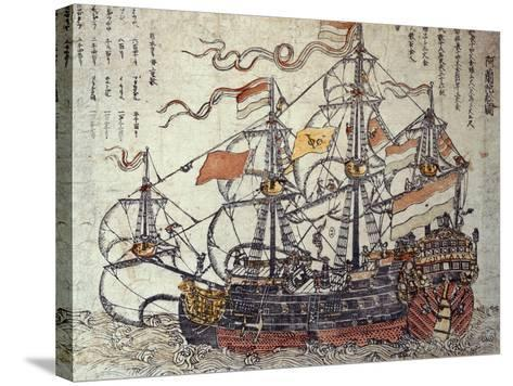 A Dutch Ship-Japanese School-Stretched Canvas Print