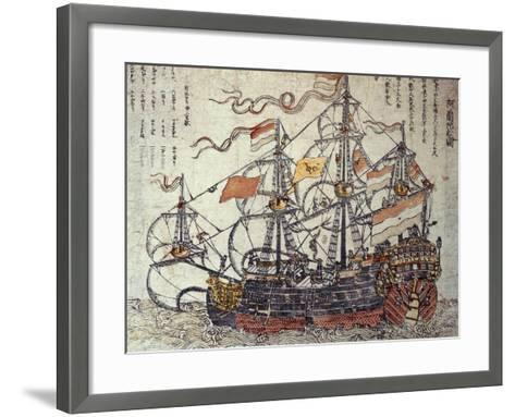 A Dutch Ship-Japanese School-Framed Art Print