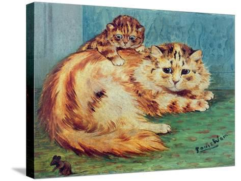 Cheeky Mouse!-Louis Wain-Stretched Canvas Print