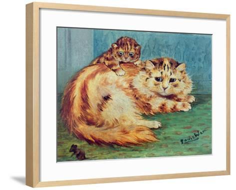 Cheeky Mouse!-Louis Wain-Framed Art Print