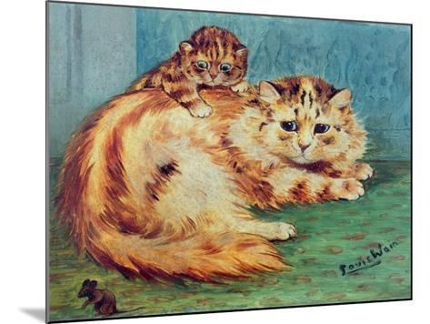 Cheeky Mouse!-Louis Wain-Mounted Giclee Print