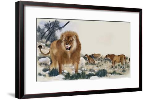 Barbary Lions-Maurice Wilson-Framed Art Print