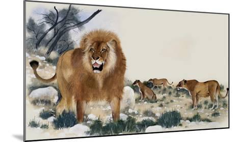 Barbary Lions-Maurice Wilson-Mounted Giclee Print