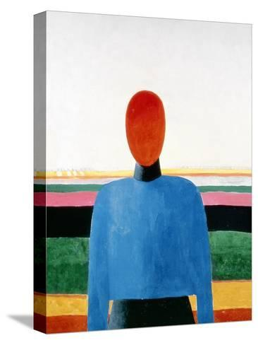 Bust of Woman-Kasimir Malevich-Stretched Canvas Print