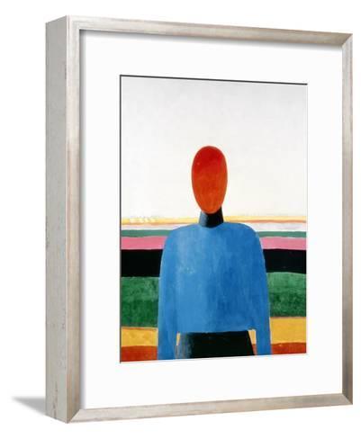 Bust of Woman-Kasimir Malevich-Framed Art Print
