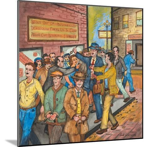 A `Con Man' Selling Toy Wrist Watches for Real Ones on a Seattle Street-Ronald Ginther-Mounted Giclee Print