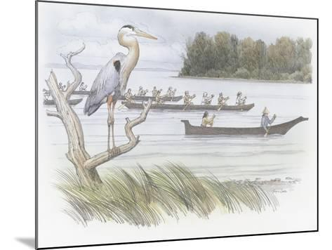 A Heron Perched on a Dead Branch-Roger Cooke-Mounted Giclee Print