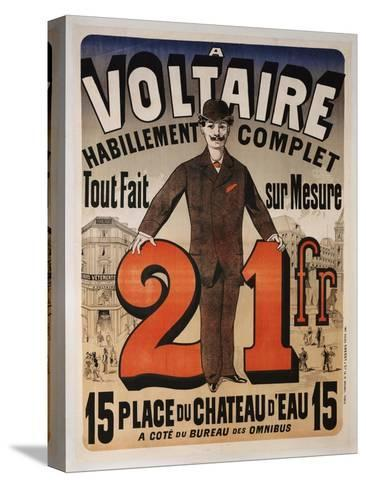 Poster Advertising 'A Voltaire', C.1877-Jules Ch?ret-Stretched Canvas Print