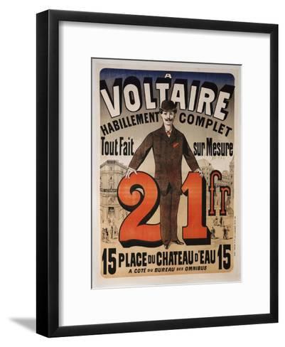 Poster Advertising 'A Voltaire', C.1877-Jules Ch?ret-Framed Art Print