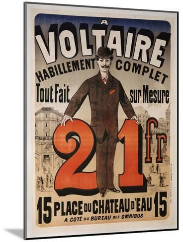 Poster Advertising 'A Voltaire', C.1877-Jules Ch?ret-Mounted Giclee Print
