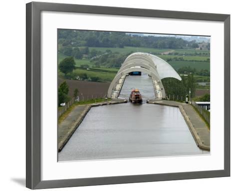 Falkirk Wheel Canal Boatlift-Doug McKinlay-Framed Art Print